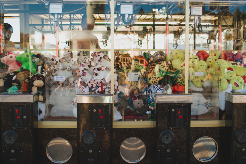 Funfair claw machine - The cat, you and us