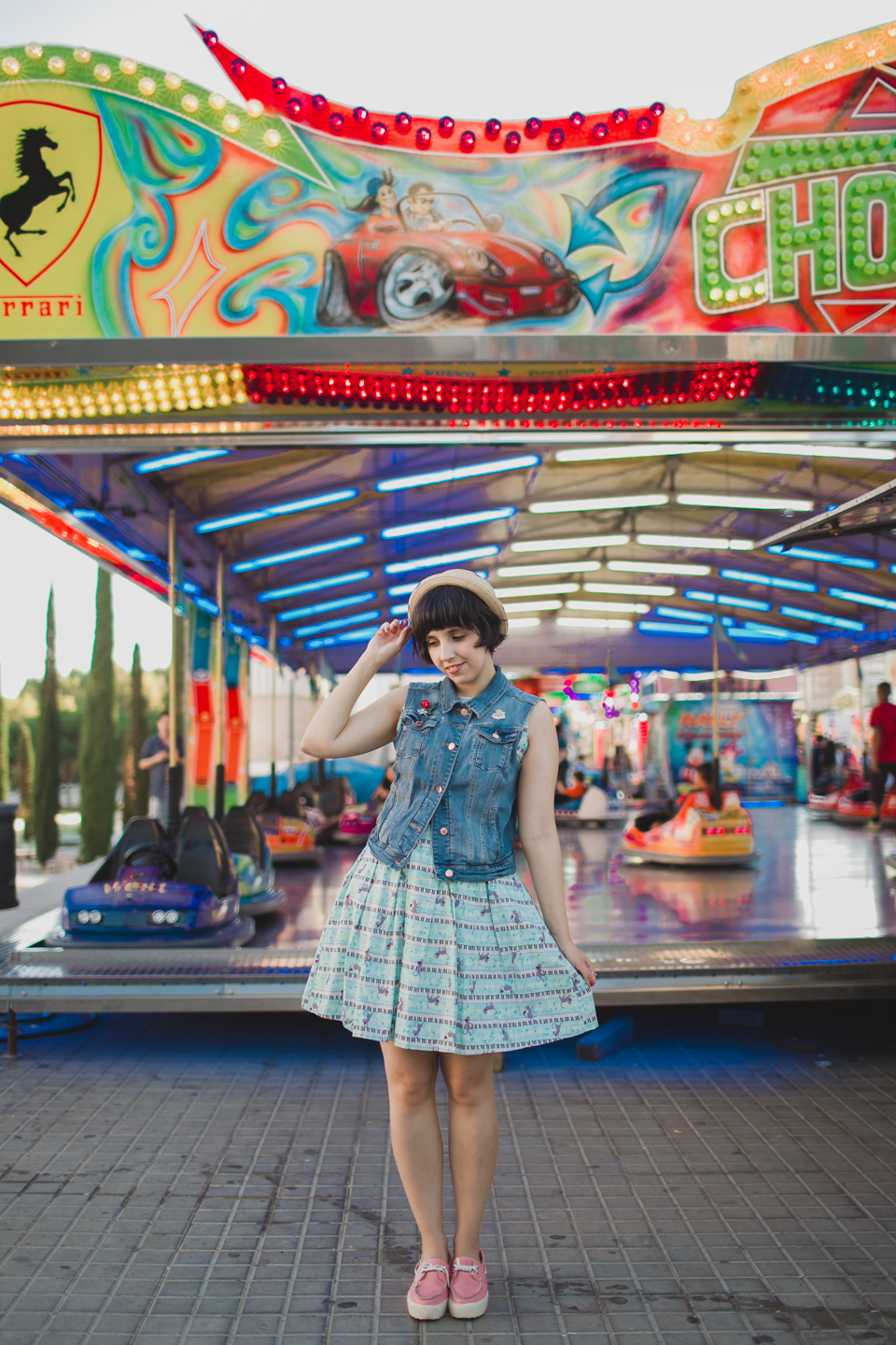 Bumper cars at the funfair - The cat, you and us