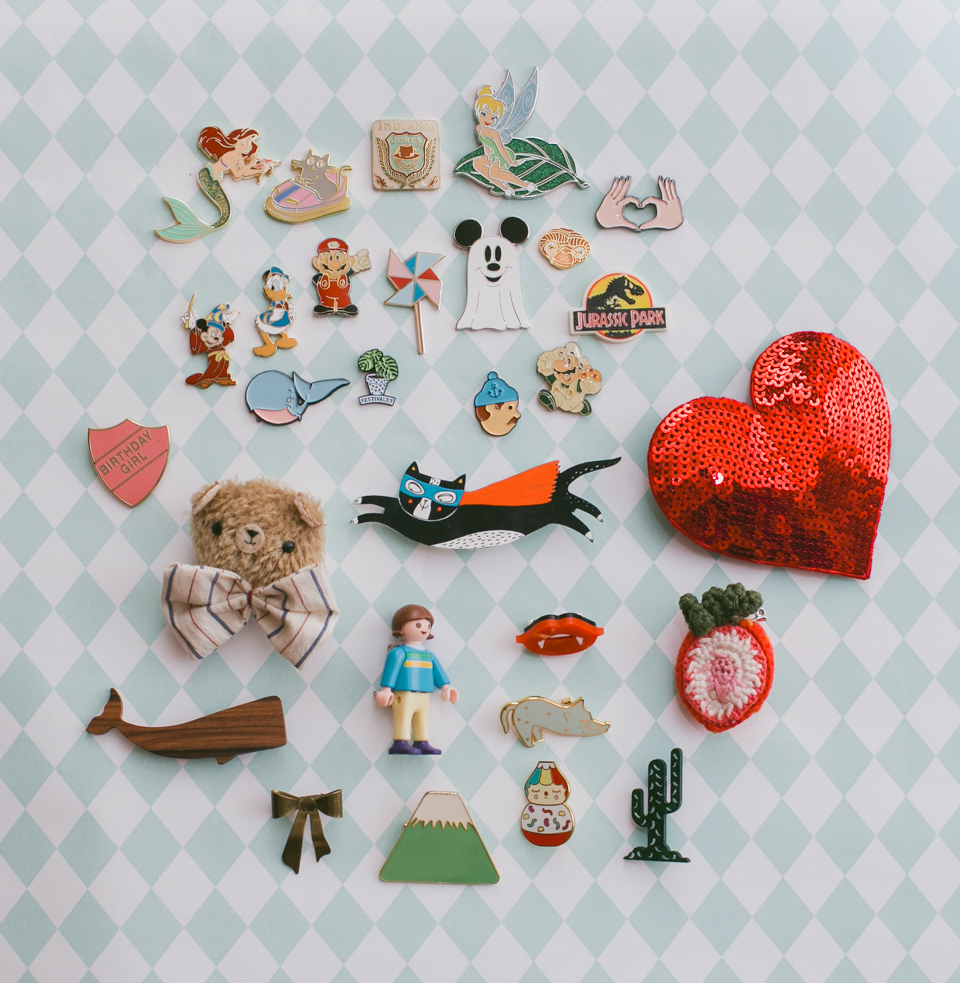 Pin and brooch collection - The cat, you and us