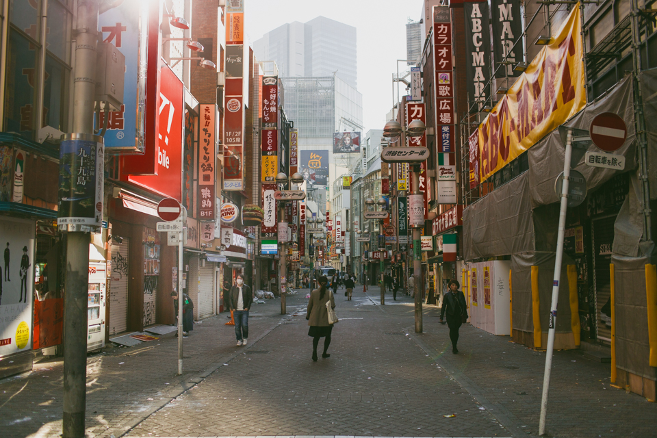 Shibuya in the morning - The cat, you and us