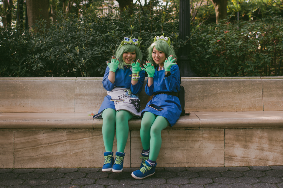 Tokyo DisneySea Toy Story aliens costume - The cat, you and us