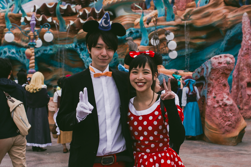 Mickey Fantasia and Minnie Mouse costumes - The cat, you and us
