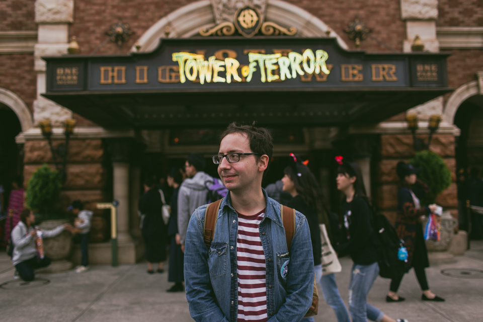 Tokyo DisneySea Tower of Terror - The cat, you and us