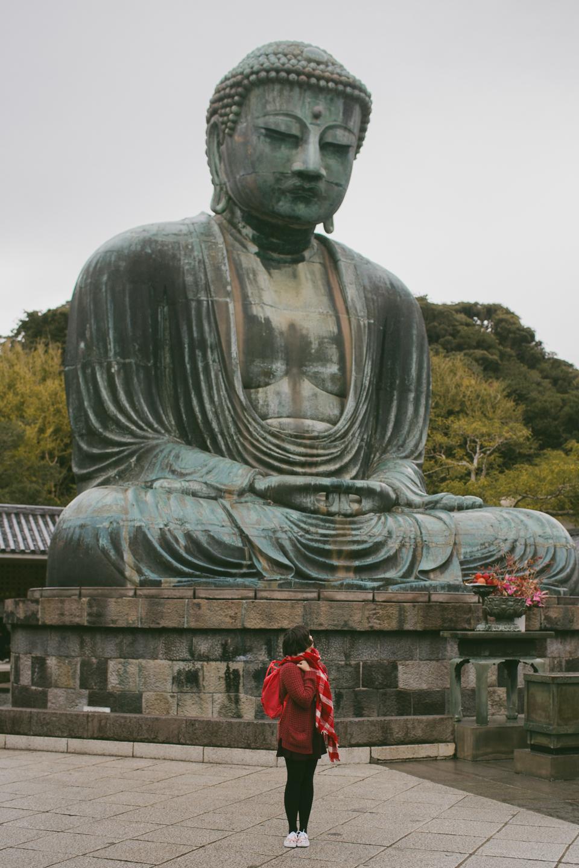 Daibutsu Great Buddha Kamakura - The cat, you and us