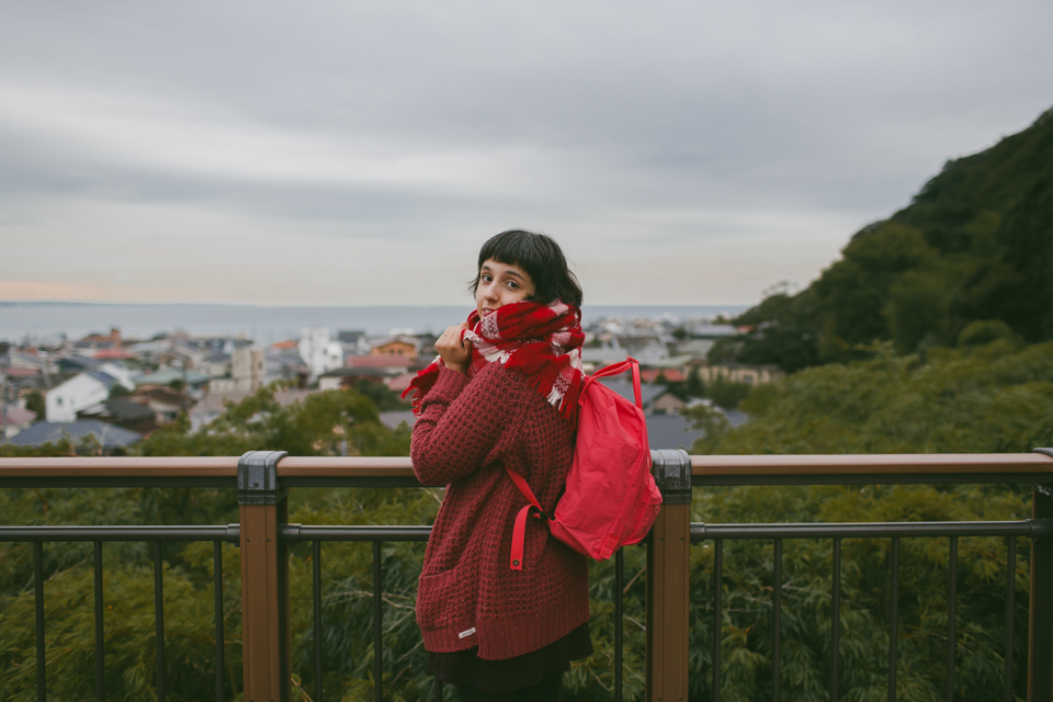 Hase Dera Kamakura views - The cat, you and us