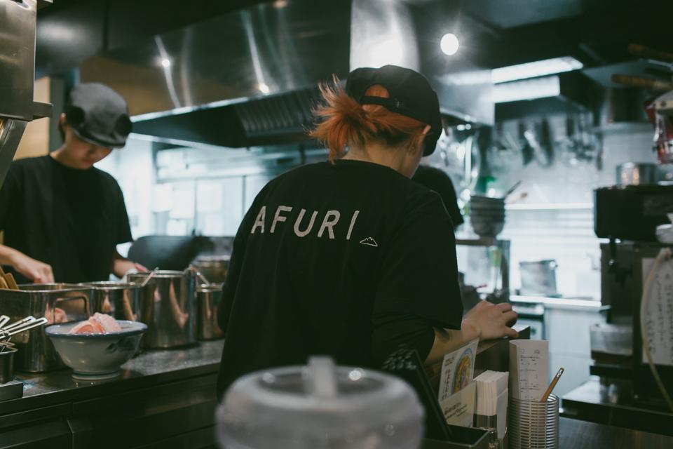 Afuri Ramen Harajuku - The cat, you and us