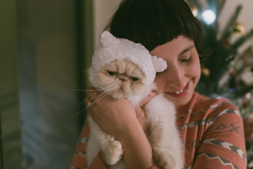 Juno in a Kawaii Japanese cat hat - The cat, you and us