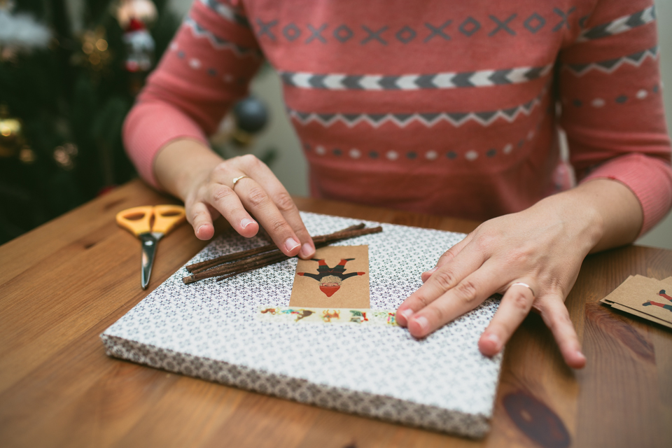 Christmas eve gift wrapping - The cat, you and us