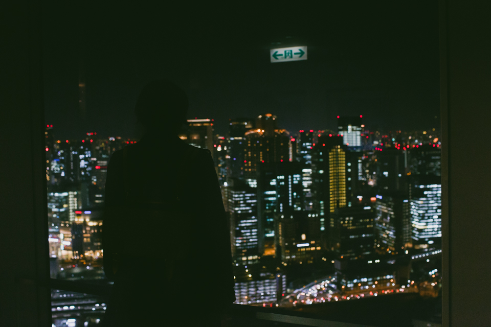 Umeda sky building - The cat, you and us