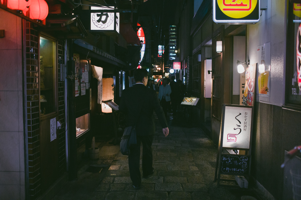 Dotonbori at night - The cat, you and us
