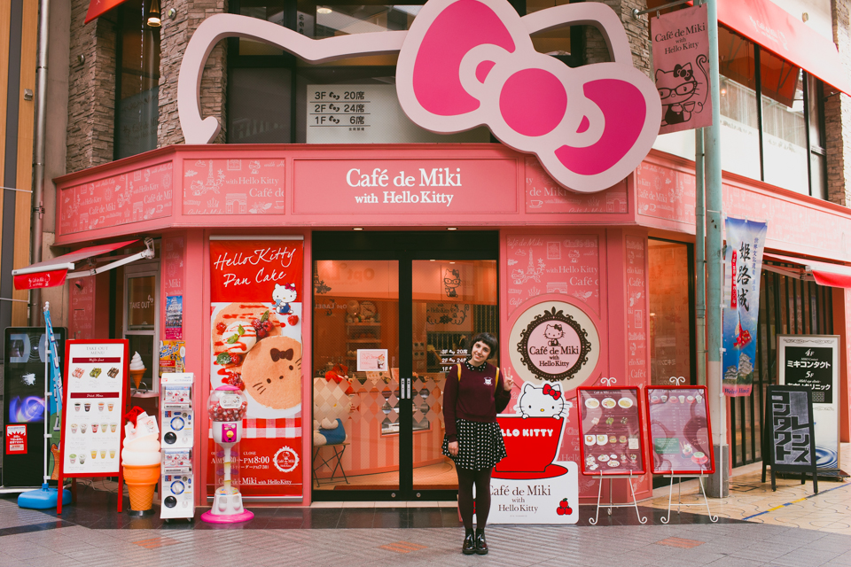Hello Kitty Café Himeji - The cat, you and us
