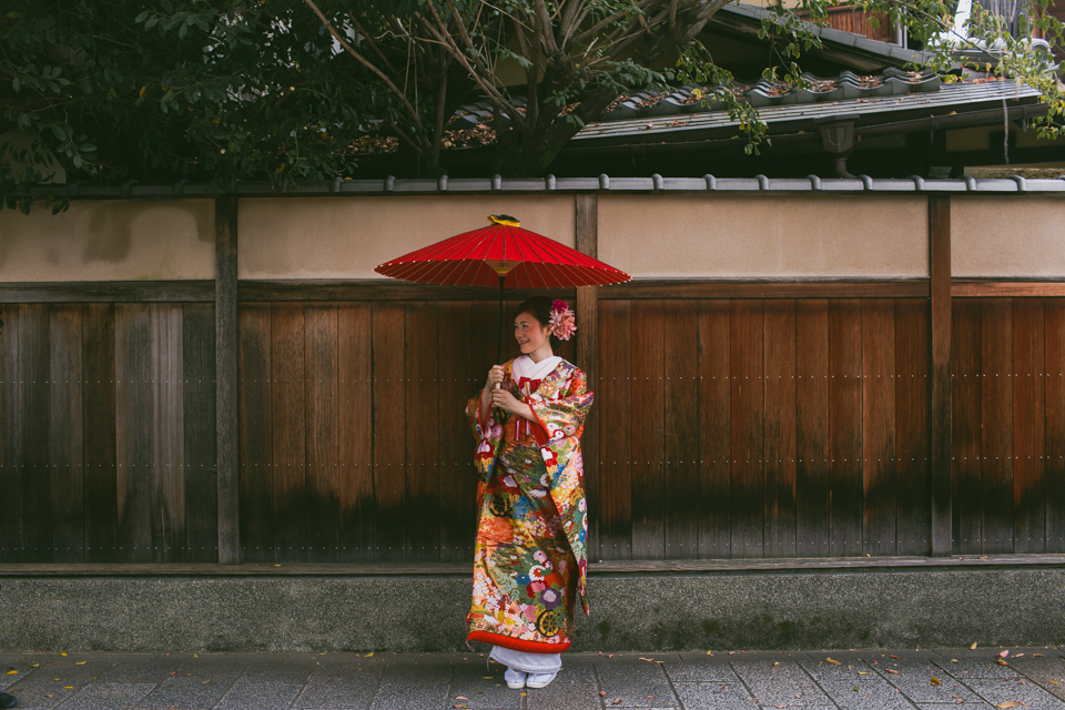 Japanese traditional girl - The cat, you and us