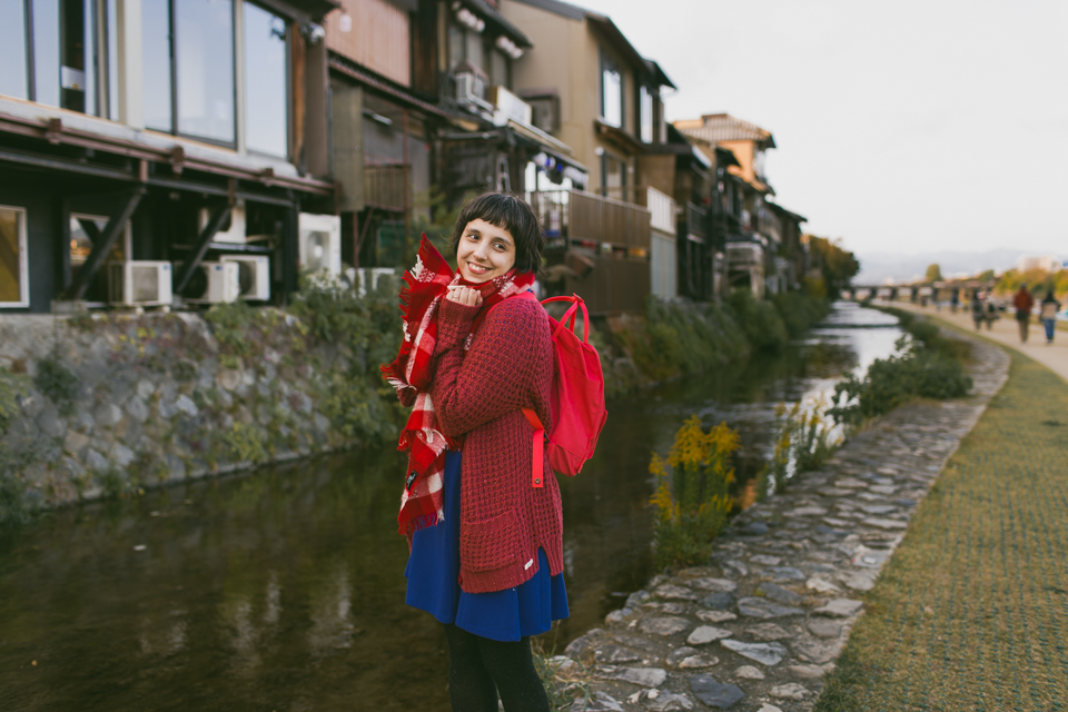 Kyoto riverside - The cat, you and us