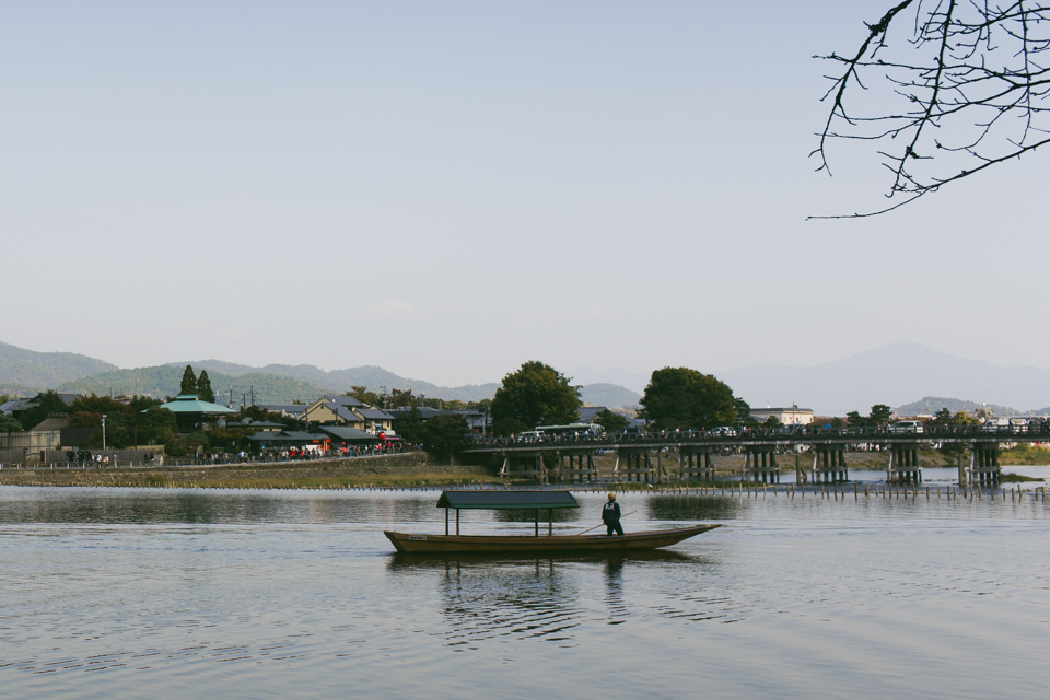 Arashiyama riverside - The cat, you and us