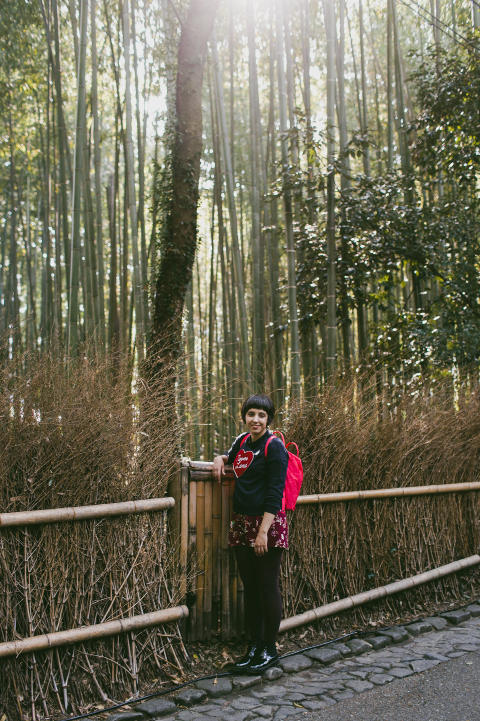 Arashiyama bamboo forest - The cat, you and us