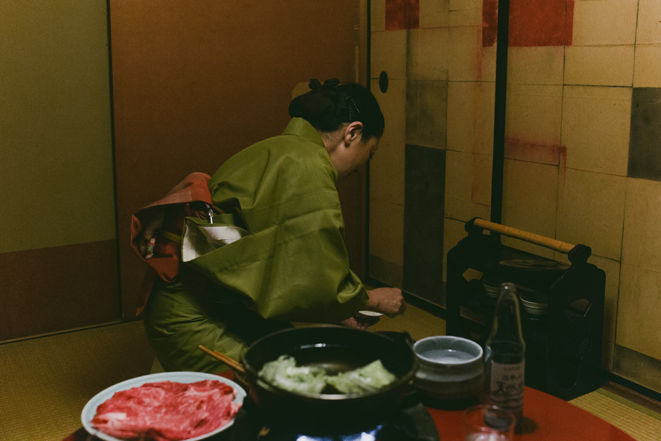 Sukiyaki Kyoto - The cat, you and us