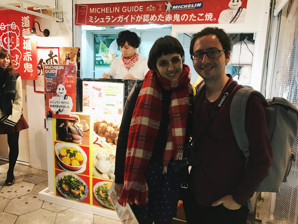 Us in Osaka by a Japanese local - The cat, you and us
