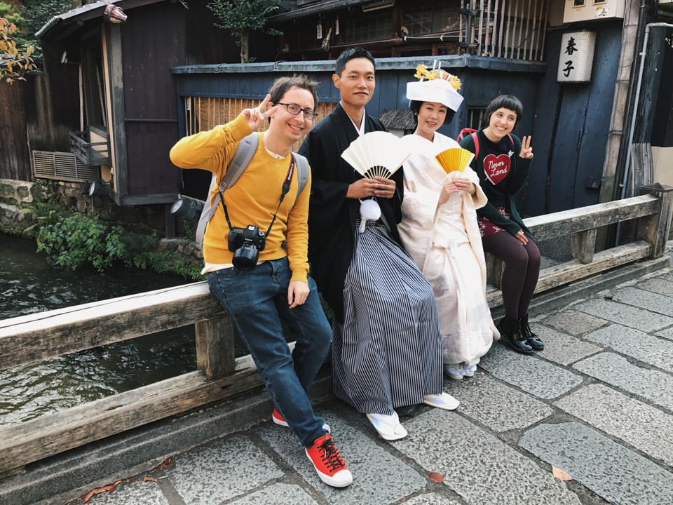 Us in Kyoto by a Japanese local - The cat, you and us