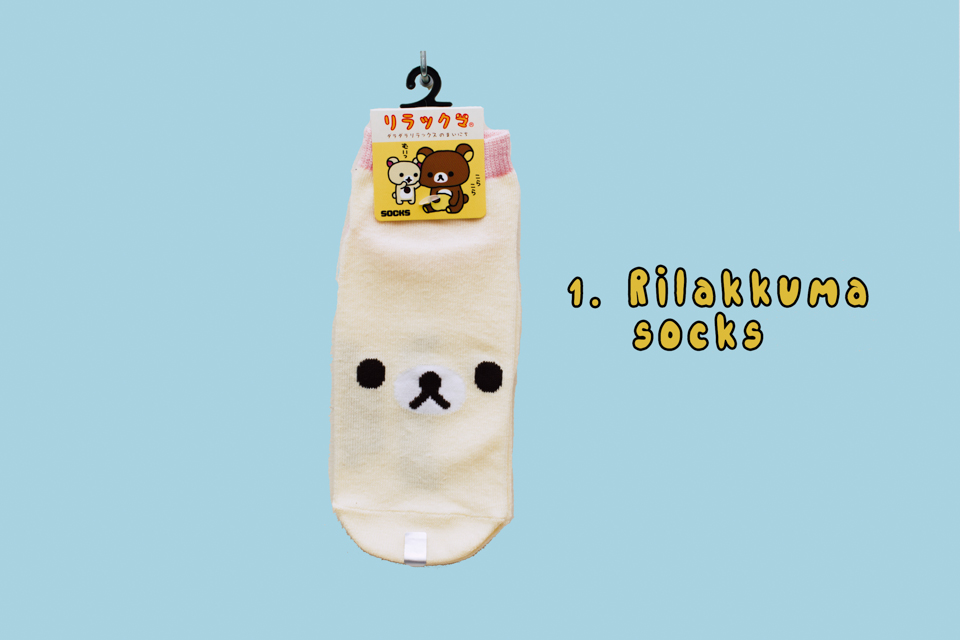 Rilakkuma socks - The cat, you and us