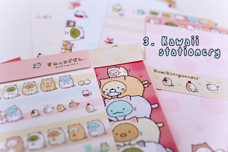 sumikko gurashi stationery - The cat, you and us