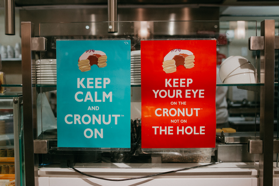 Keep calm and cronut on - The cat, you and us