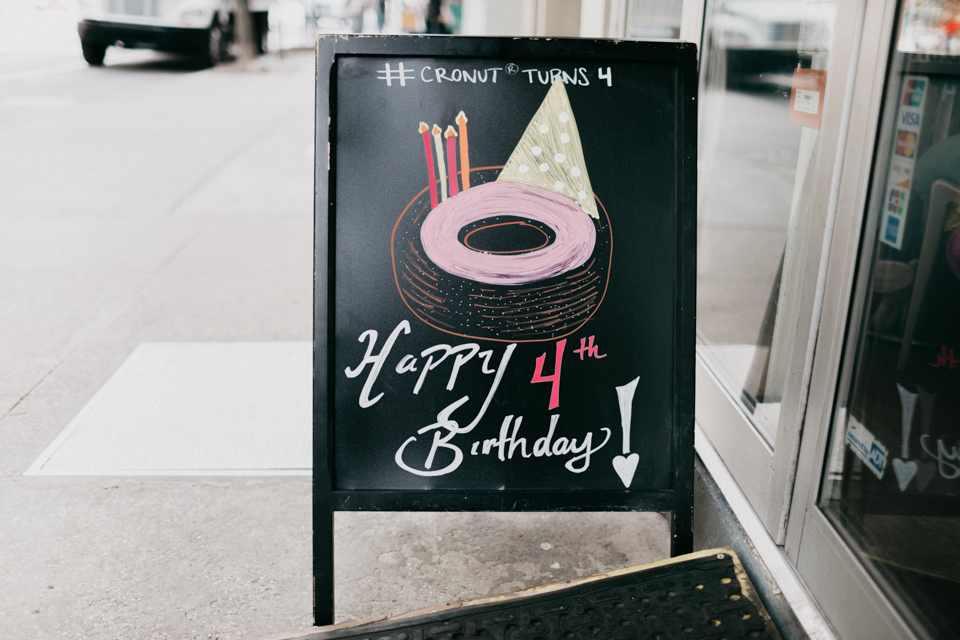 Cronut 4th birthday - The cat, you and us