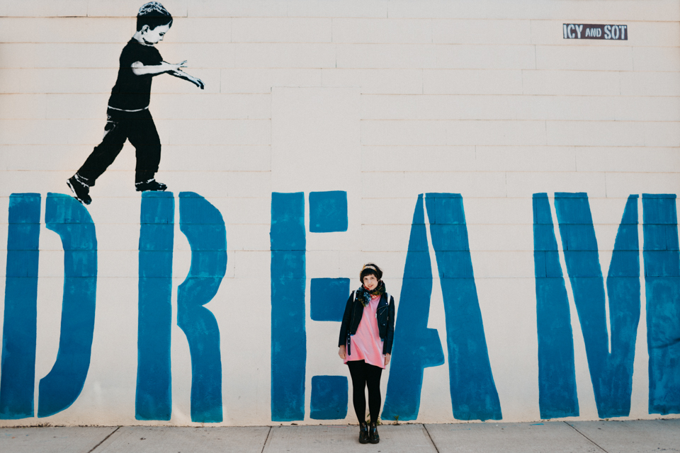 Brookyn Dream graffiti - The cat, you and us
