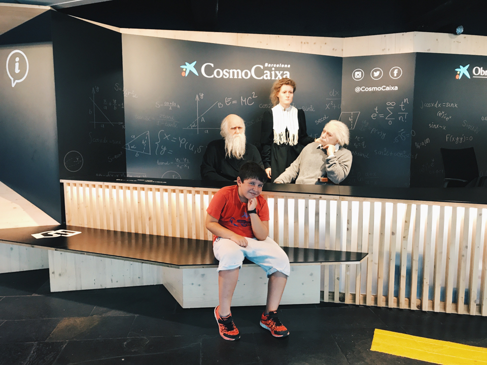 Samuel at CosmoCaixa - The cat, you and us