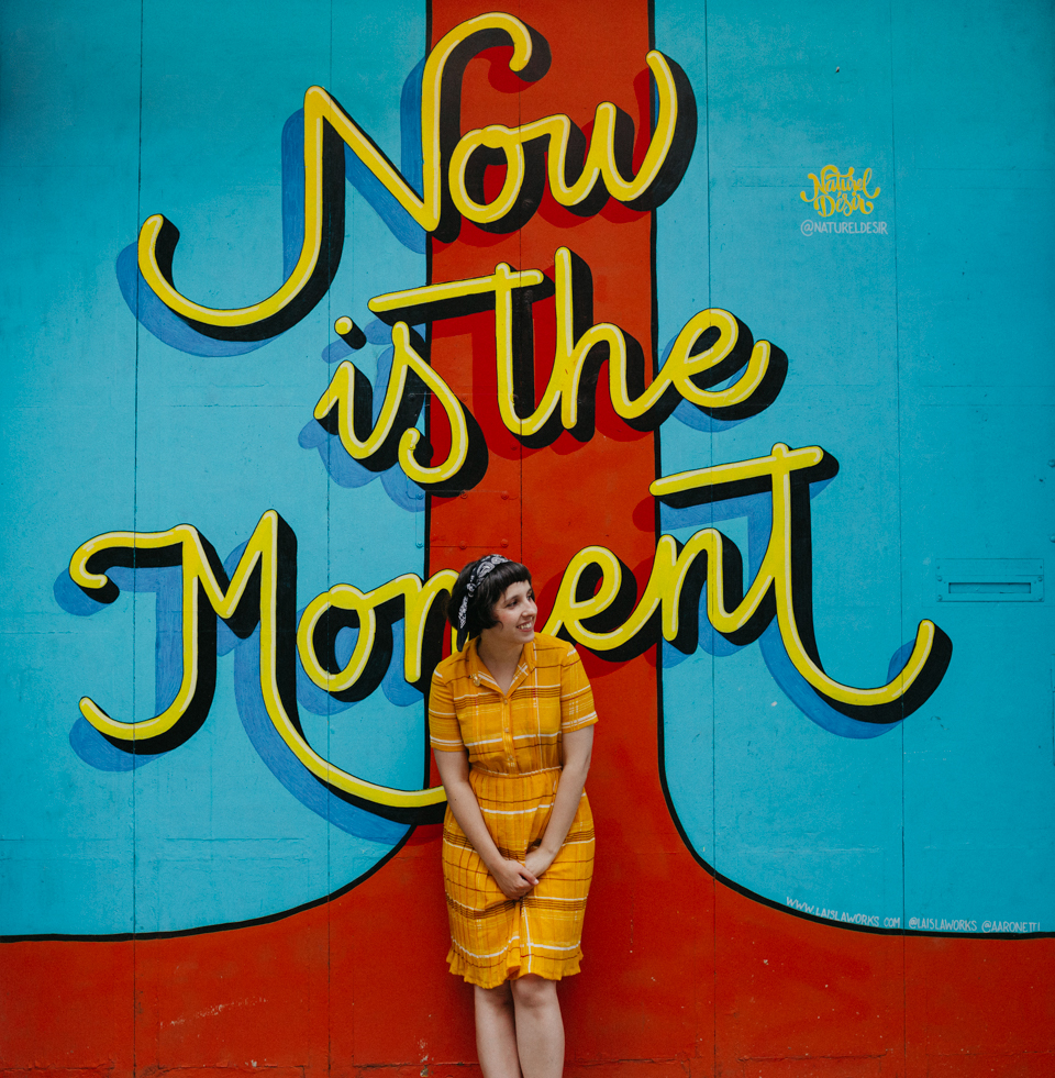 Now is the moment mural - The cat, you and us
