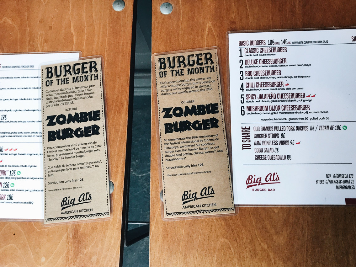 Big Al's Sitges Zombie Burger - The cat, you and us
