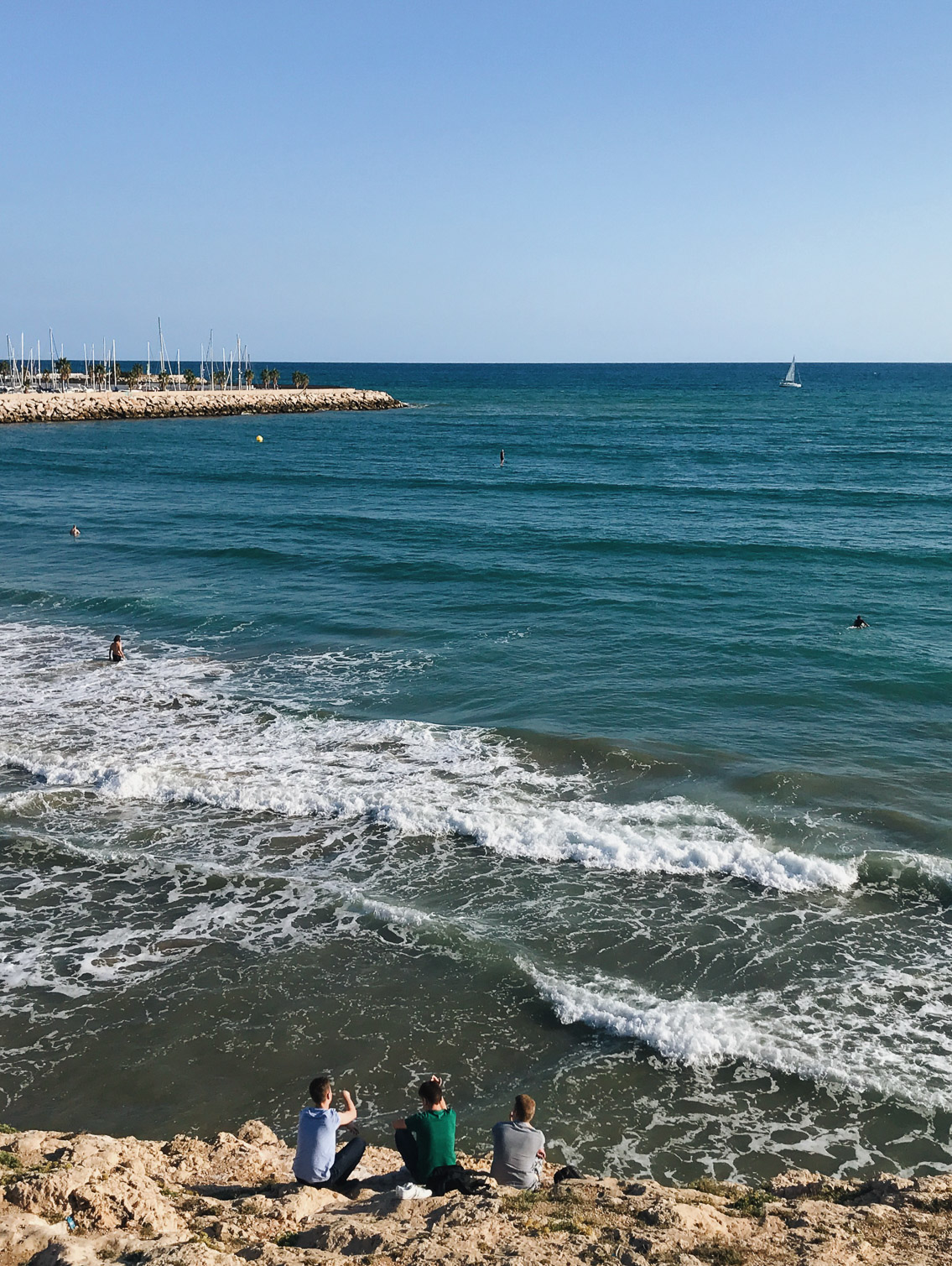 Sitges coastal town - The cat, you and us