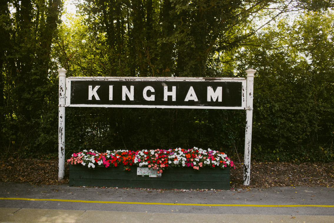 Kingham train station - The cat, you and us