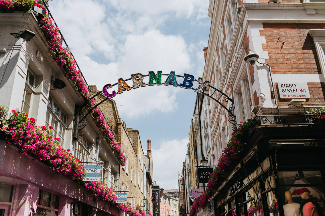 Carnaby Street Soho London - The cat, you and us