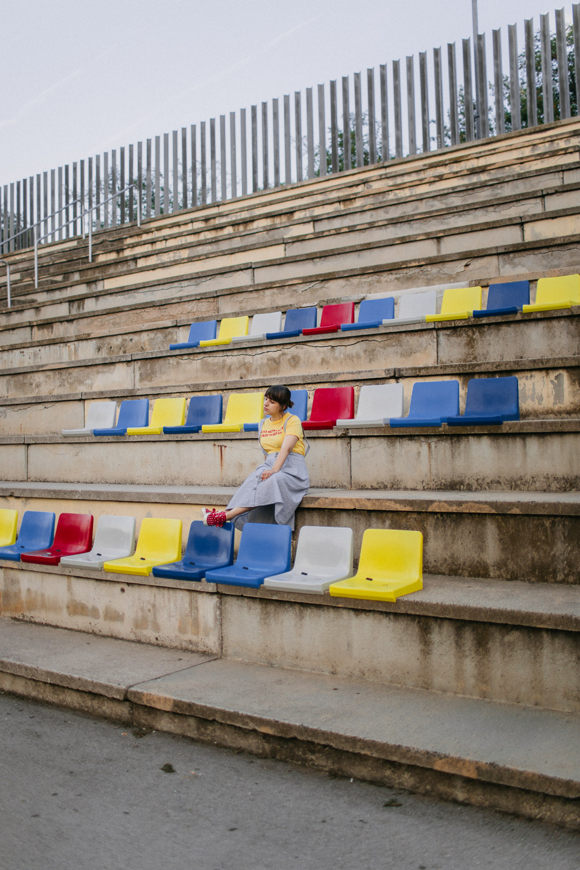 Birthday colorful chairs stadium Barcelona - The cat, you and us