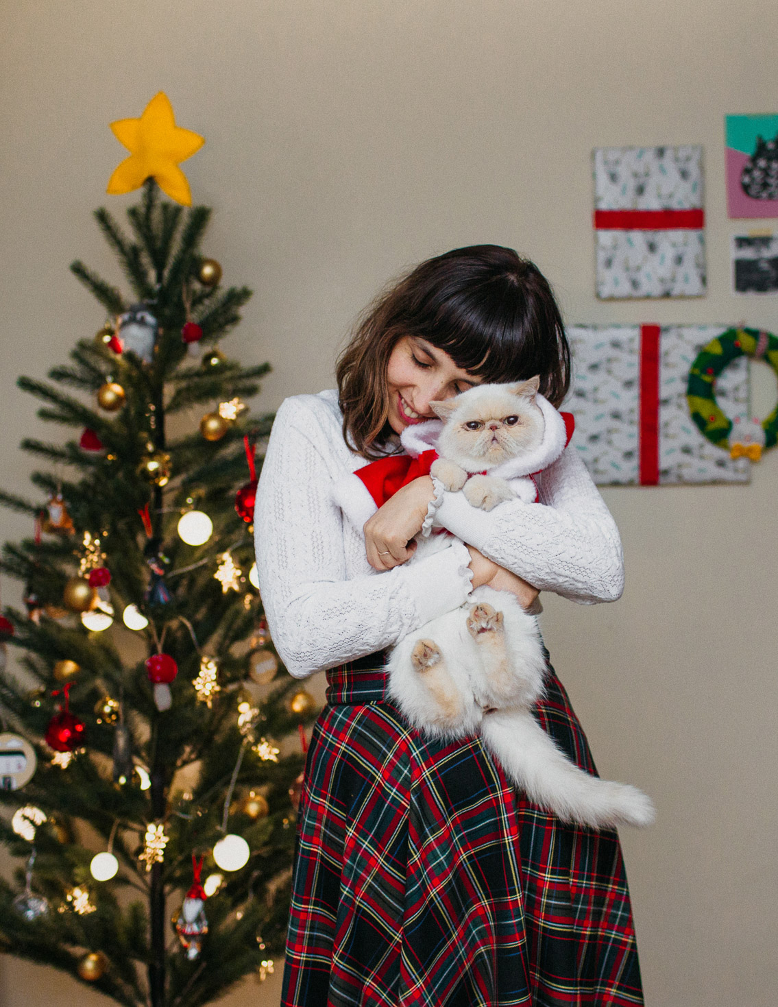 Christmas 2018 outfits - The cat, you and us