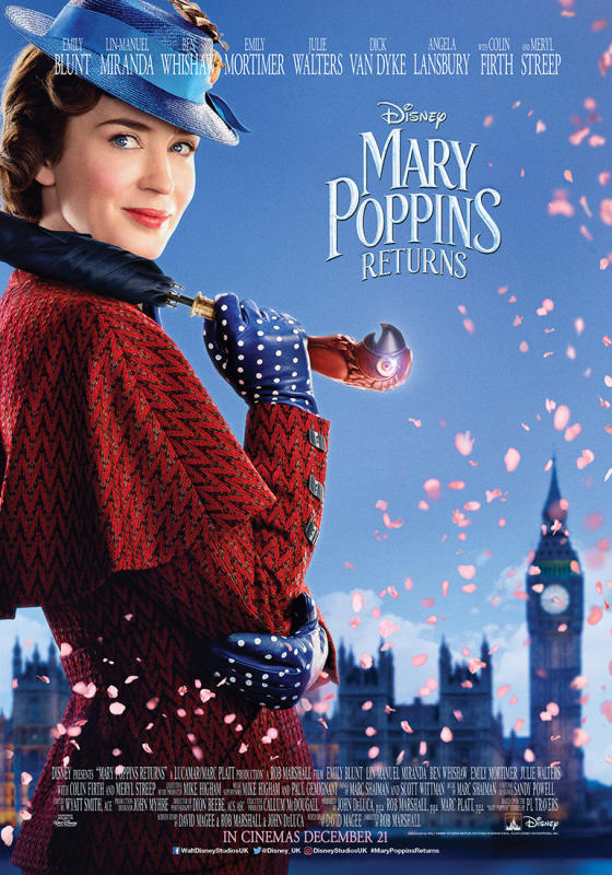 Mary Poppins returns poster - The cat, you and us