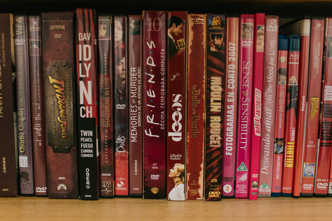 Rainbow DVD shelf - The cat, you and us
