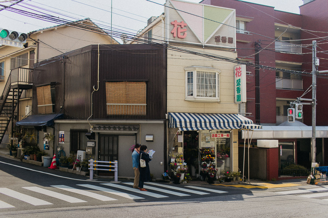 Yanaka storefronts - The cat, you and us