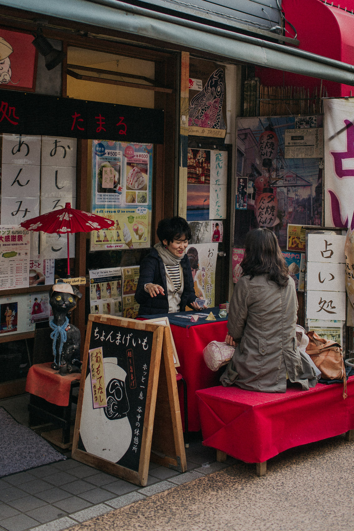 Yanaka Ginza tarot reading - The cat, you and us