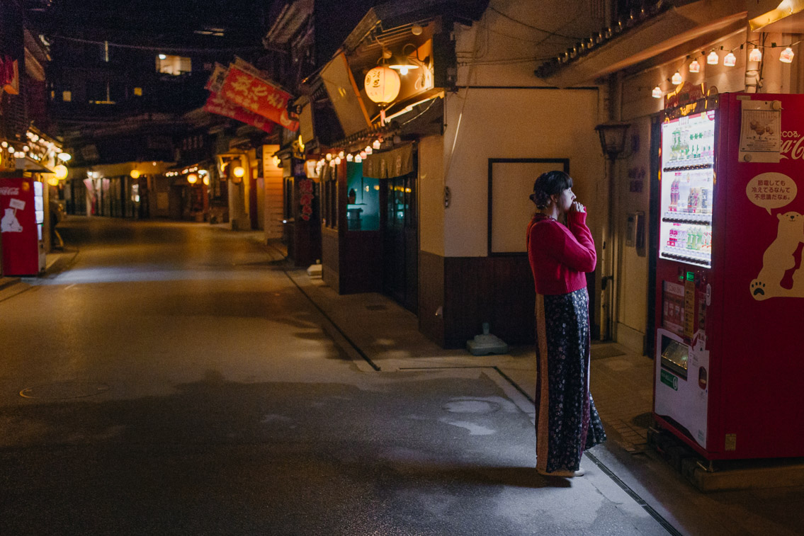 Miyajima at night - The cat, you and us