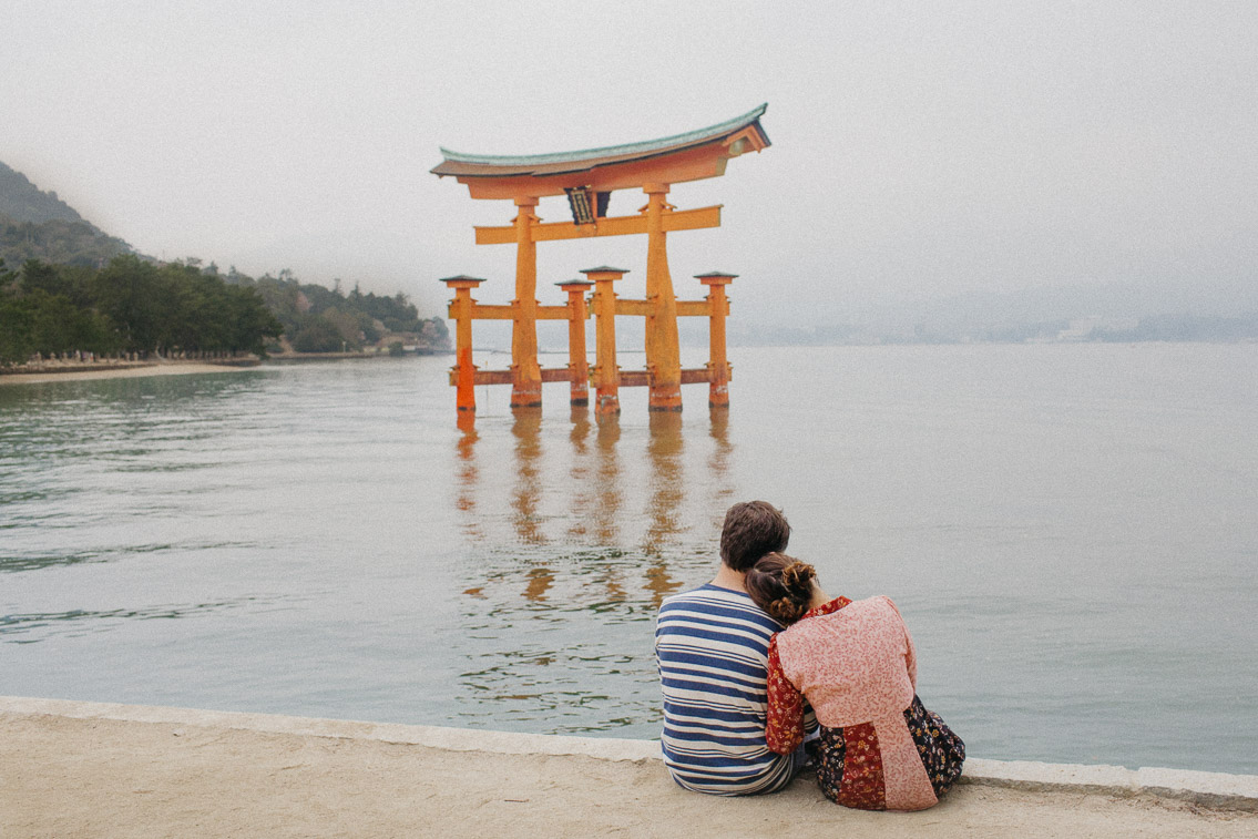 Miyajima floating torii - The cat, you and us