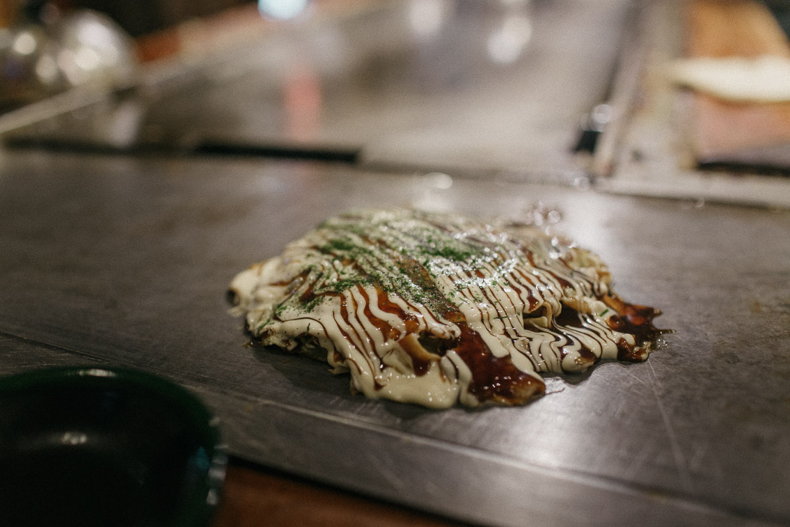 Osaka Okonomiyaki Fukutaro - The cat, you and us