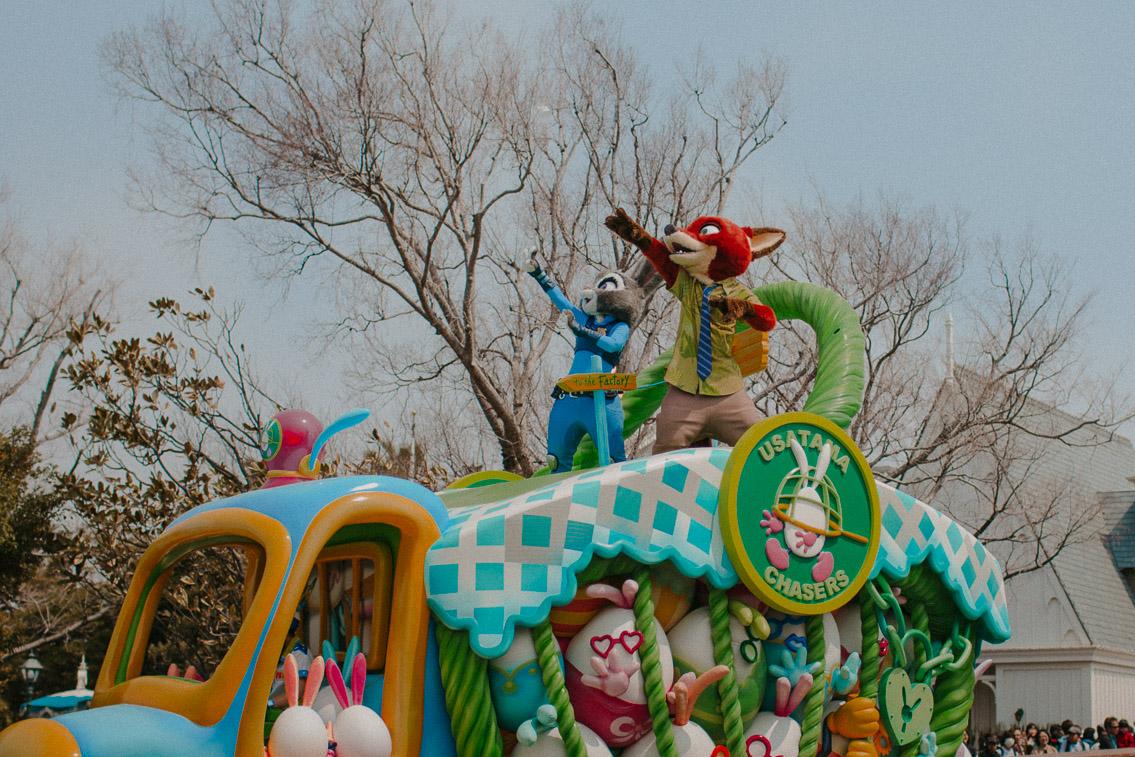 Tokyo Disneyland Easter Usatama parade - The cat, you and us