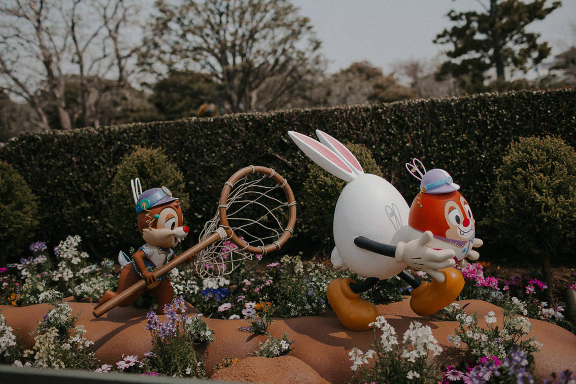 Tokyo Disneyland Easter season - The cat, you and us
