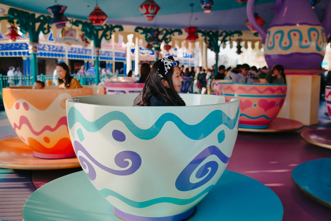 Tokyo Disneyland Alice's cups - The cat, you and us