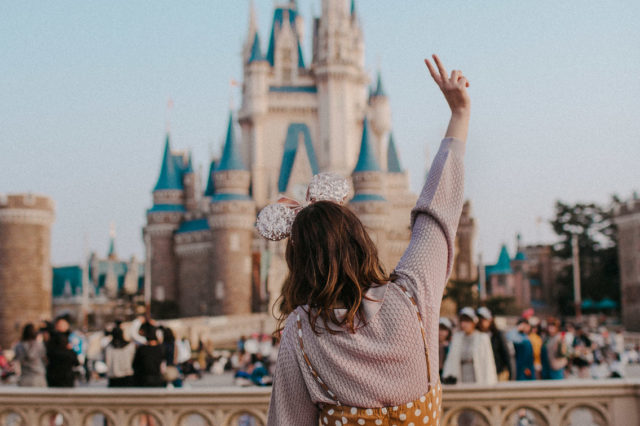Tokyo Disneyland - The cat, you and us