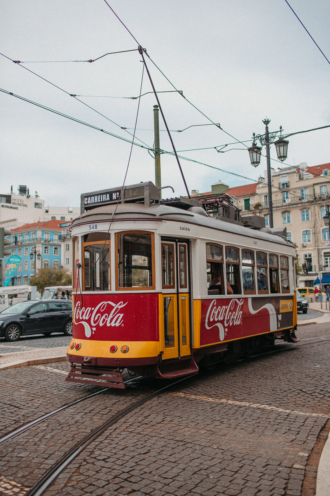 Lisboa tram - The cat, you and us