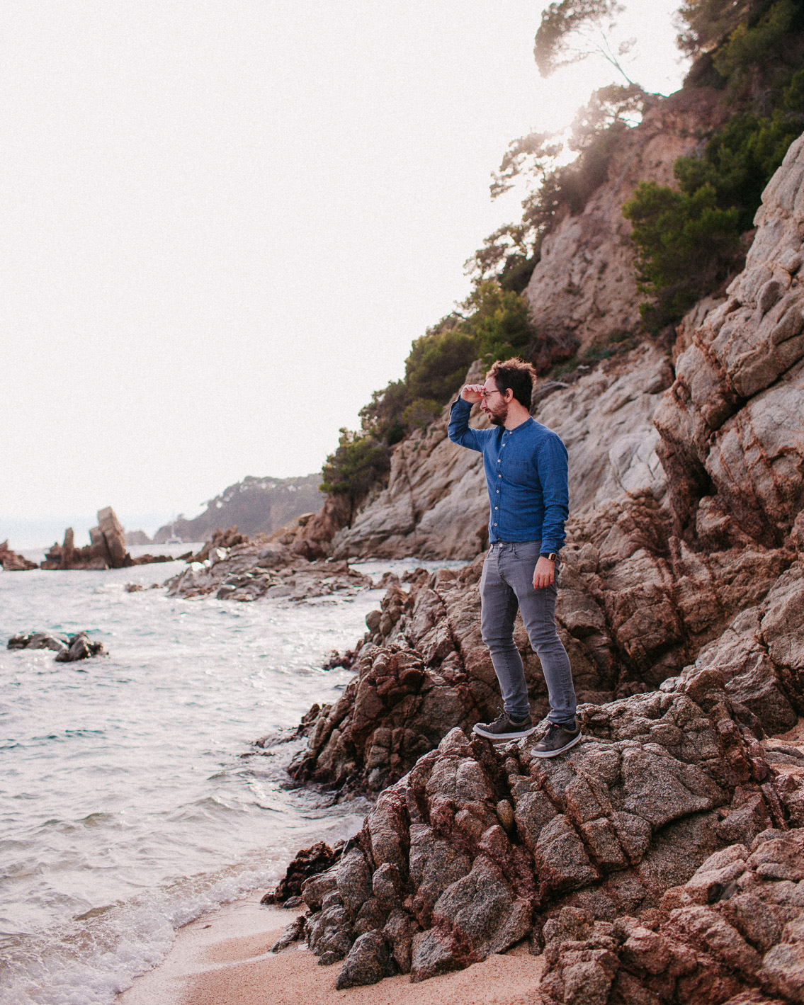 Cala Boadella uncharted beach - The cat, you and us